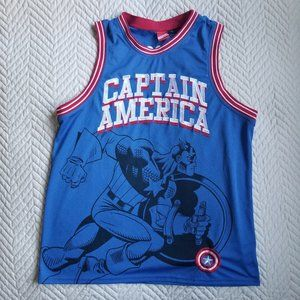 Captain America Jersey XL Blue Red Retro